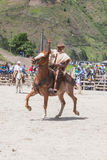 Old  Latin cowboy riding a horse Royalty Free Stock Images
