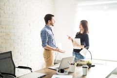 Business partners having a discussion Royalty Free Stock Image