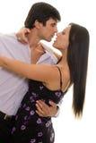 Latin Dance. Couple dancing Royalty Free Stock Photo