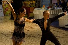 Latin Dance: Alex Dutcovici/ Ana Marin. Alexandru Dutcovici and Ana Marin, dancers, 4th place winners at the National Dance Contest, Cupa Romaniei, Latin Section Stock Photography