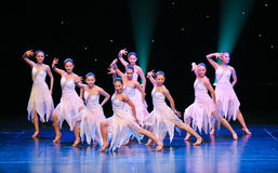 Latin Dance Groups. December 28, 2012, in Nanchang, China Disabled Art Troupe performances royalty free stock photos