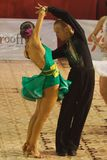 Latin Dance: Paso Doble. Alexandru Dutcovici and Ana Marin, dancers, 4th place winners at the National Dance Contest, Cupa Romaniei, Latin Section, 15- 16 years Stock Image