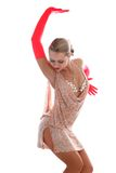 Latin dancer. Lovely blondei latin dancer isolated on white Royalty Free Stock Photography