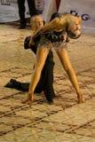 Latin Dancers #1. Alexandru Dutcovici and Ana Marin, dancers, 4th place winners at Cupa Romaniei, 25 October 2009, Timisoara, Latin Section, 15- 16 years old Stock Photo