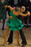 Latin Dancers, Girl in Green Dress Royalty Free Stock Image