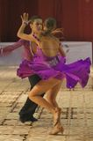 Latin Dancers, Open Latin, 14-15 years. Ballroom dancers, at the National Dance Contest, Cupa Romaniei, 25 October 2009, Timisoara,14 - 15 years, Open Latin Stock Photography