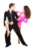 Latin dancers over white Stock Photos