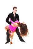 Latin dancers over white Royalty Free Stock Photo
