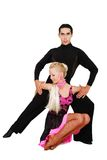 Latin dancers over white Royalty Free Stock Images