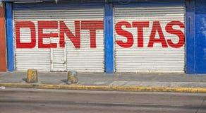 Latin dentist sign in sudamerica Stock Image