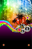 Latin Disco Event Flyer for Posters Stock Image