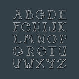 Latin elegant thin line typescript. Royalty Free Stock Photography