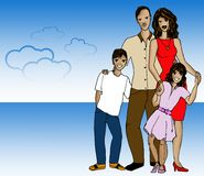 Latin family Stock Photography