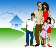 Latin family Stock Image