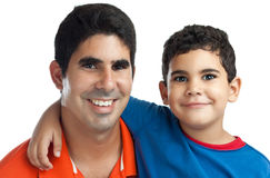 Latin Father and his small son Stock Image