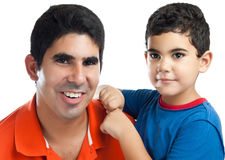 Latin Father and his small son Stock Images