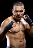 Latin Fighter Flexing His Muscles Stock Image