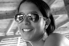 Latin girl cheerful Stock Photography