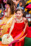 Latin Girl Dressed Like A Princess Stock Photo