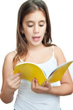 Latin girl studying her school lesson Royalty Free Stock Image
