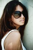 Latin girl in stylish glasses Royalty Free Stock Images