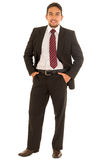 Latin guy in a suit with red tie Royalty Free Stock Images