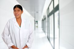 Latin hispanic young doctor woman Royalty Free Stock Photo