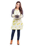 Latin housewife cooking Royalty Free Stock Photography