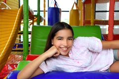Latin indian teen girl smiling in playground Stock Images