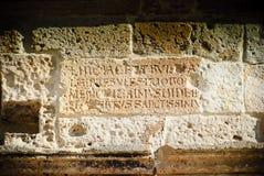 Latin inscription stock photos