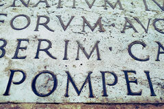 Latin inscription on  wall, Italy Stock Photos