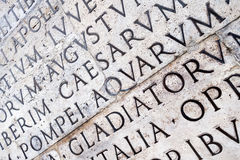 Latin inscription on  wall in Rome, Italy Royalty Free Stock Images