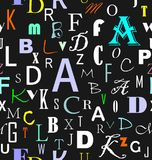 Latin letters seamless pattern Stock Photography
