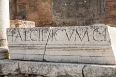 Latin Letters on Stone Wall Royalty Free Stock Photos