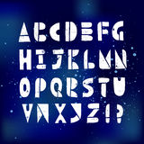 Latin letters and symbols linocutting alphabet Royalty Free Stock Photos