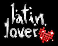 Latin lover. Creative design of latin lover message Royalty Free Stock Images