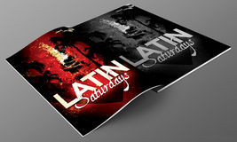 Latin magazine mockup Stock Image