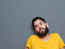 Latin man with beard and piercings Royalty Free Stock Photography