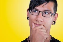 Latin man, pensive Stock Photos