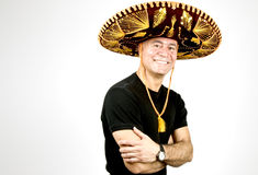 Latin Man with a Sombrero Stock Photos