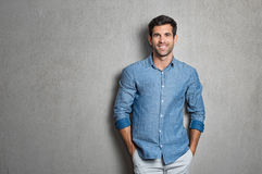 Latin man standing stock photos