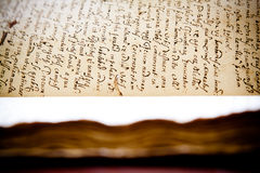 Latin manuscript Royalty Free Stock Images