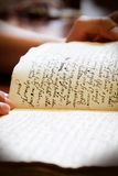 Latin manuscript Royalty Free Stock Photography