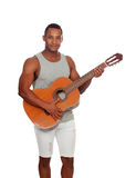 Latin men with a guitar Stock Images