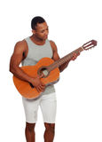 Latin men with a guitar Royalty Free Stock Photography