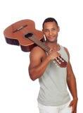 Latin men with a guitar Stock Image
