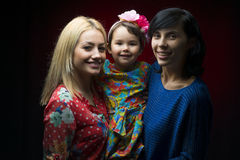 Latin mother with daughter and aunt Stock Photography