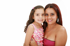 Latin mother hugging her daughter Royalty Free Stock Photography