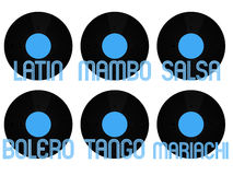 Latin Music Genres Vinyl 1 Stock Photos