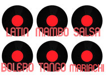 Latin Music Genres Vinyl 2 Royalty Free Stock Photos